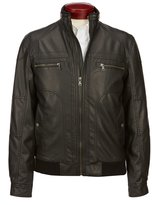 Murano Faux Leather Bomber Jacket
