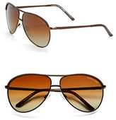Andrew Marc 60mm Aviator Sunglasses