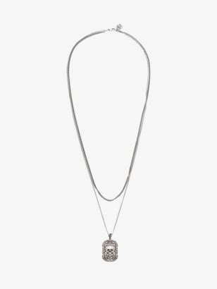 Alexander McQueen Engraved Skull Necklace