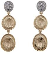 Sevilla Silver with Technibond Diamond-Accented Brushed Drop Earrings