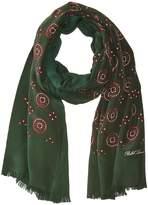 Polo Ralph Lauren Washed Silk Medallion Oblong Scarves
