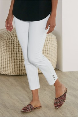 Women Super Stretch Button Capris