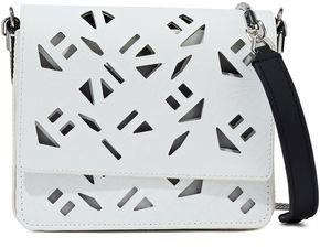 Kenzo Laser-cut Logo-print Leather Shoulder Bag