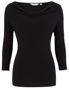 Dorothy Perkins Womens **Tall Black Cowl Neck Top, Black