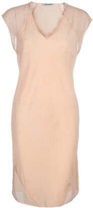 Alexander Wang Peach Sheer Dress M