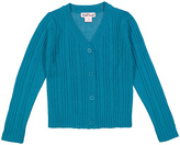 Pink Angel Teal Climate Cable-Knit V-Neck Cardigan - Infant Toddler & Girls