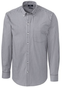 Cutter & Buck Men's Big & Tall Long Sleeves Stretch Gingham Shirt