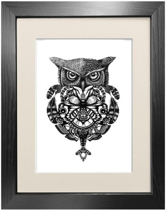 Emily Carter The Owl & Pocket Watch Fine Art Print A3