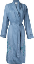 Forte Forte embroidered robe - women - Ramie - 2