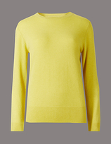 Autograph Pure Cashmere Ribbed Round Neck Jumper
