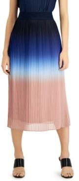 Alfani Ombre Pleated Midi Skirt, Created for Macy's