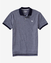 Express modern fit small lion oxford pique polo