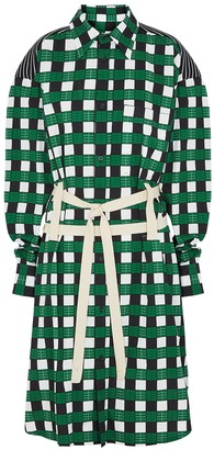 Plan C Printed Cotton-blend Shirt Dress