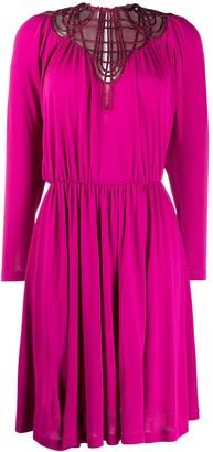 Alberta Ferretti Strappy Neckline Midi Dress
