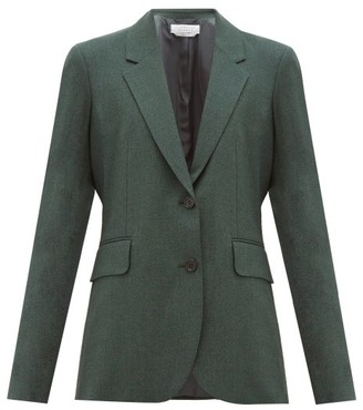 Gabriela Hearst Sophie Single-breasted Wool Jacket - Dark Green