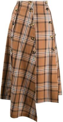 A.W.A.K.E. Mode Asymmetric Midi Skirt