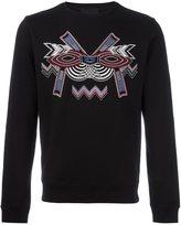 Les Hommes geometric embroidery sweatshirt