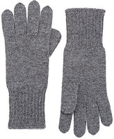 Barneys New York WOMEN'S STOCKINETTE-STITCHED CASHMERE GLOVES-DARK GREY