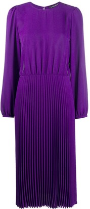 Luisa Cerano Pleated Midi Dress