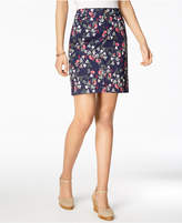 Charter Club Print Sateen Comfort Waist Skort, Created for Macy's