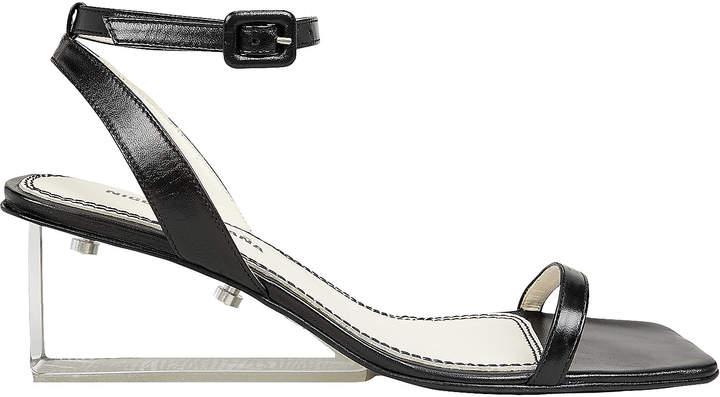 clear Nicole Saldana Alyssa Heel Sandals