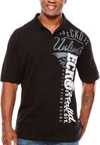 Ecko Unlimited Unltd Short Sleeve Logo Knit Polo Shirt Big and Tall