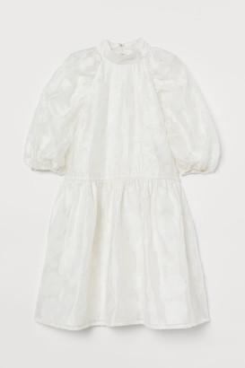 H&M Jacquard-weave Dress - White