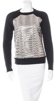 Jason Wu Snakeskin-Trimmed Wool Sweater