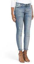 Connie Frayed Hem Skinny Ankle Jeans