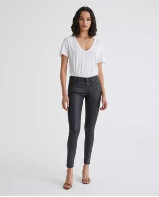 AG Jeans The Legging Ankle - Leatherette Lt-Super Black
