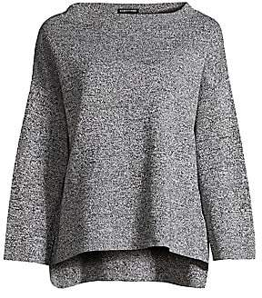 Eileen Fisher Women's Brushed Organic Cotton & Silk Pullover