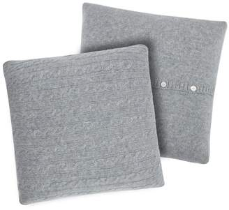 Magaschoni Cable Knit Cashmere Pillow