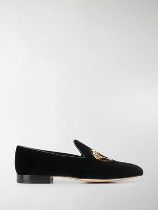 Versace Embroidered Medusa Head Slippers