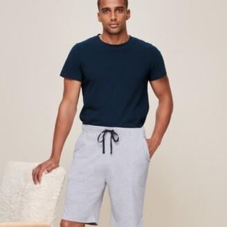 The White Company Mens Pyjama Shorts, Mid Grey Marl, Small