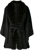 Guy Laroche belted cape - women - Cashmere/Wool/Sable - 40