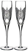 Waterford Happiness Butterfly Crystal Wedding Toast Flute Pair