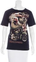 Maje Graphic Print Woven T-Shirt