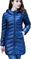 CHERRY CHICK Women's PACKABLE Down Puffer Coat with Carry Bag X-Small Navy