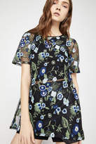 BCBGeneration Floral Embroidered Tunic Top