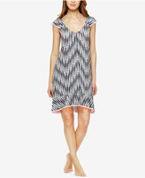 Ellen Tracy Flutter-Sleeve High-Low Nightgown