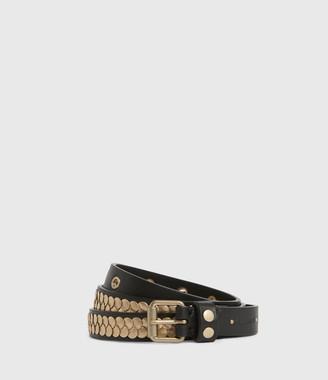 AllSaints Francoise Skinny Leather Belt