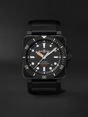 Bell & Ross Br 03-92 Diver Automatic 42mm Ceramic And Rubber Watch, Ref. No. Br0392-D-Bl-Ce/srb