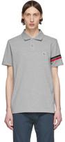 Moncler Grey Striped Sleeve Polo