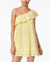 Be Bop Juniors' One-Shoulder Lace A-Line Dress