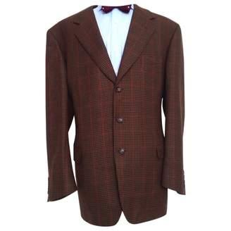 Celine Brown Wool Jackets