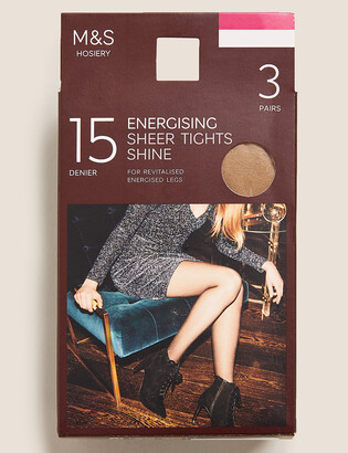 Marks and Spencer 3 Pairs of 15 Denier Energising Sheer Tights