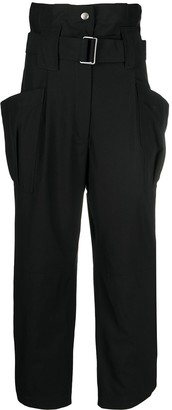 Kenzo Paperbag-Waist Cropped Trousers