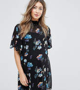 Asos Petite Floral High Neck Mini Dress