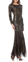JS Collections Metallic Mermaid Gown