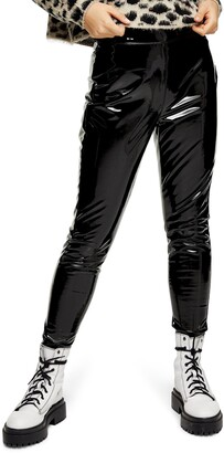 Topshop Piper Faux Leather Skinny Trousers